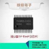 供应串口语音MP3解码芯片SPI flash盘符可挂U盘SD卡YX5200-24SS