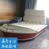 轩爱主题酒店船型床海盗船电动床多功能双人水床