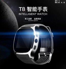 T8藍牙智慧插卡手表運動計步智慧穿戴電子手表安卓手表廠家直銷
