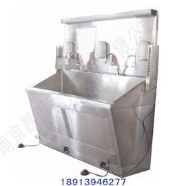 医院专用感应脚踏洗手池 不锈钢刷手池