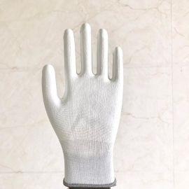 安全防护劳保加工手套PU浸胶浸掌手套十三针安全防护手套