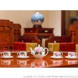 银银瓷器 国瓷工艺 醴陵釉下五彩瓷 八仙茶具套装
