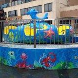 别致的风景线 儿童游乐设备厂家郑州隆生海洋魔盘