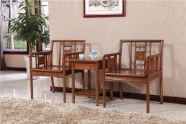 实木圈椅茶几三件套稀有黄菠萝木环保低甲醛