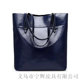 厂家定做PU托特皮包外贸女包购物袋单肩包小批量定制