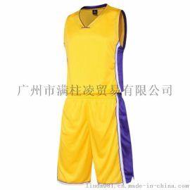 新款篮球服套装比赛服运动服训练服NBA湖人篮球服