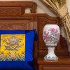 醴陵陶瓷工艺花瓶定做 工艺陶瓷花瓶logo定制 釉下五彩瓷花瓶厂家