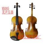 MX005普及实木磨白边小提琴