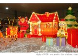 圣诞铁艺场景布置  圣诞铁线装饰工艺品 铁艺造型