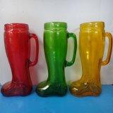 创意玻璃靴子杯 1000ml大杯子 超大号玻璃扎啤杯 饮料杯 个性杯