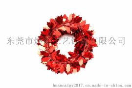 东莞市焕彩工艺饰品|铁丝花|红色哈利叶藤条