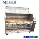 上海烤羊肉串机厂家,自动烤羊肉串机价格,双层旋转烤羊肉串机,商用无烟烤羊肉串机