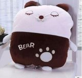 折疊可愛熊兩用抱枕空調被 卡通汽車辦公室靠墊 廠家來樣來圖定做
