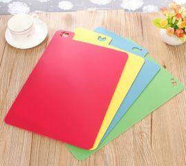 塑料厚菜板,4色分类砧板,2mm塑料PP菜板,380x290mm