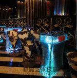 LH-Y9酒吧吧臺,發光玻璃高臺卡座