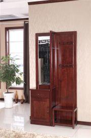 上海實木門廳櫃 中式現代門廳家具 木言木語