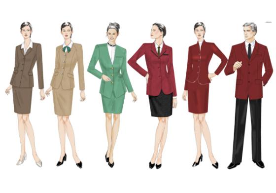 女装系列服装手绘稿 职业装