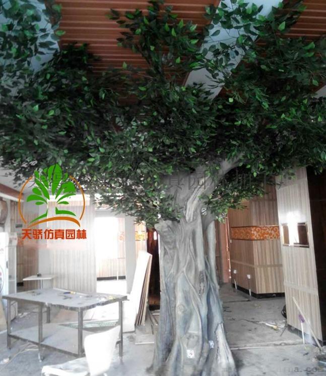 假树盆景_假树价格_水泥假树图片