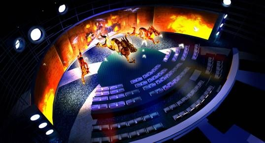 电影院屏幕_环幕影院 360度环幕展示系统 360°影院 大屏幕展示