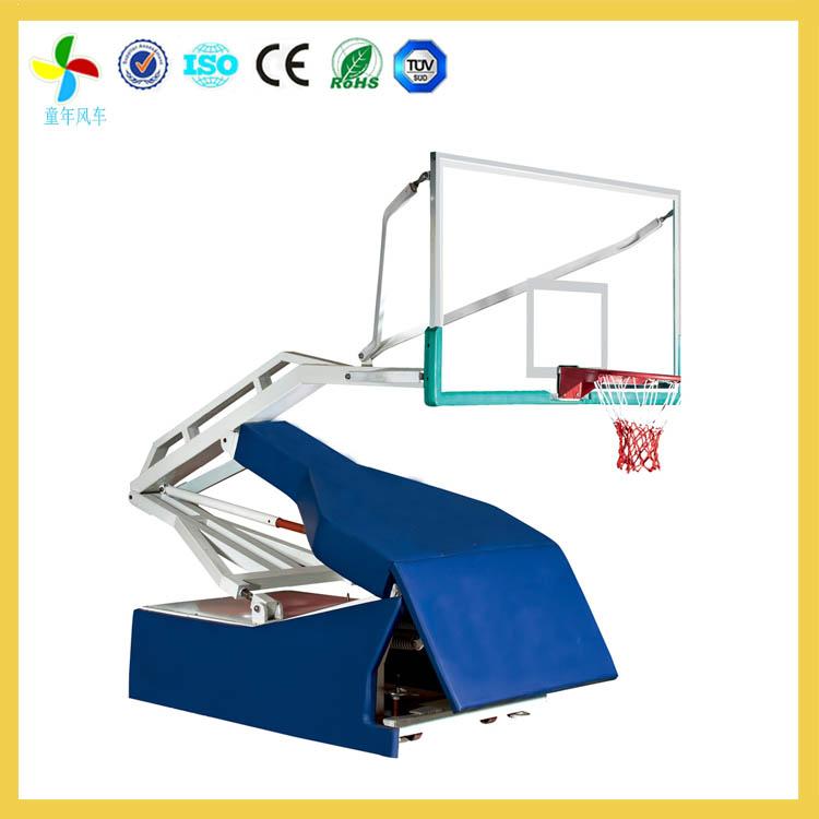 浏阳体育中心运动员比赛体育器材篮球架款式搭配 手动液压式篮球架包图片
