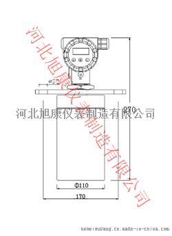 XK-GR铸铝型两线制超声波液位计-5