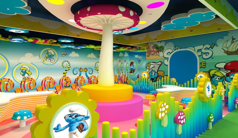 东莞市儿童乐园淘气堡环境艺术设计,东莞市主题乐园基础装修装饰图片