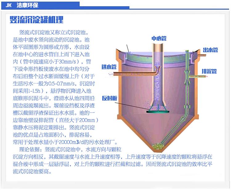 杭州洁康/竖流式沉淀罐器池/絮凝碳钢衬胶/污泥沉淀图片