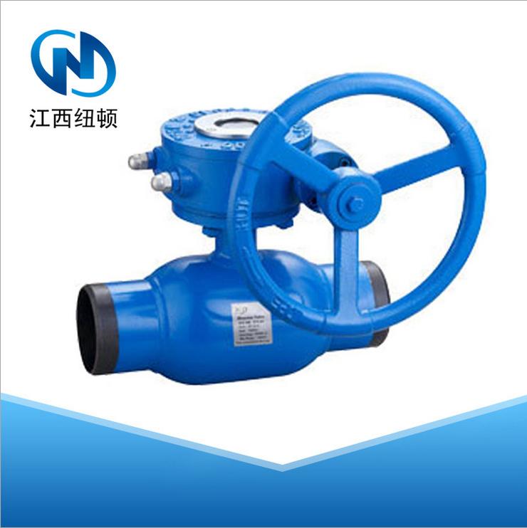 河北卓科q361f蜗轮碳钢全焊接球阀图片
