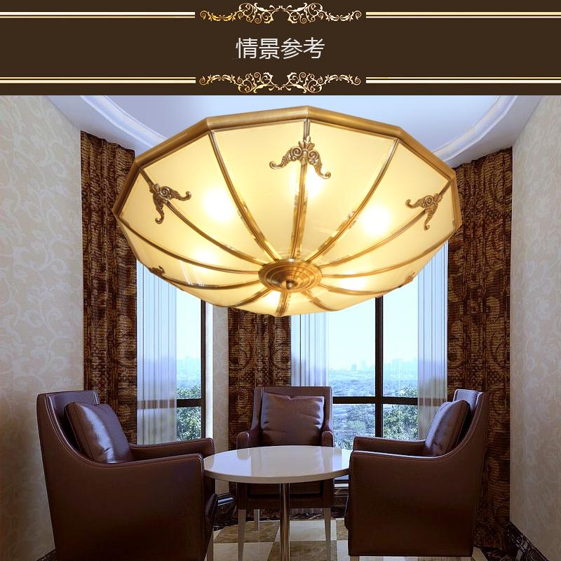 万柏a3005cp 欧式全铜吸顶灯圆形餐厅过道阳台灯酒店会所茶楼灯具图片