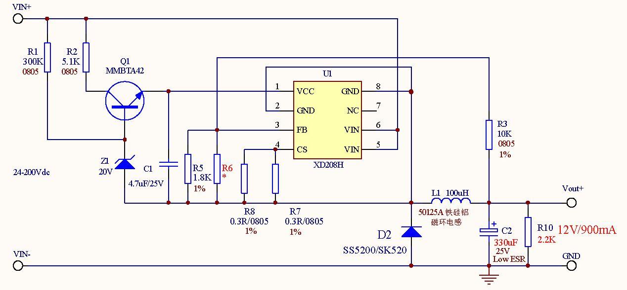 产品目录 电子元器件 集成电路 ic 其它集成电路 > 200v降压恒压芯片