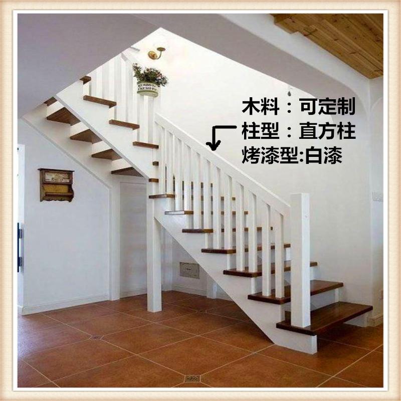 木楼梯扶手,楼梯扶手,实木扶手,实木立柱生产厂家,江苏丰县惠民木业图片