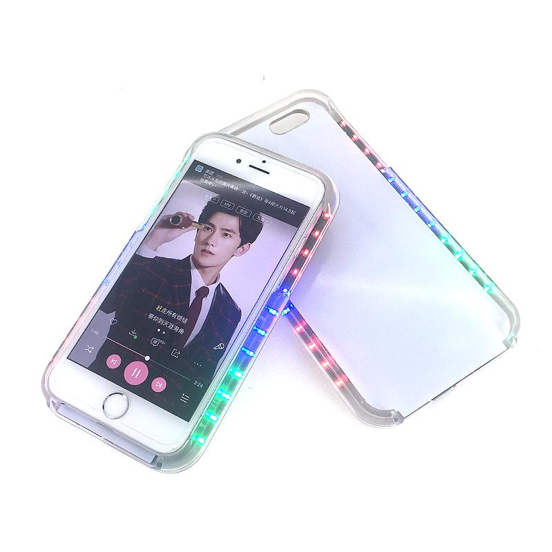 新款led七彩跑马灯手机壳 个性炫彩音乐七彩灯保护套