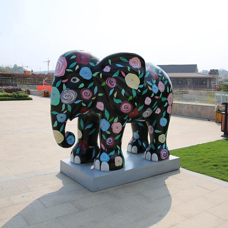 杜克实业玻璃钢雕塑景观雕塑动物雕塑大象雕塑定制