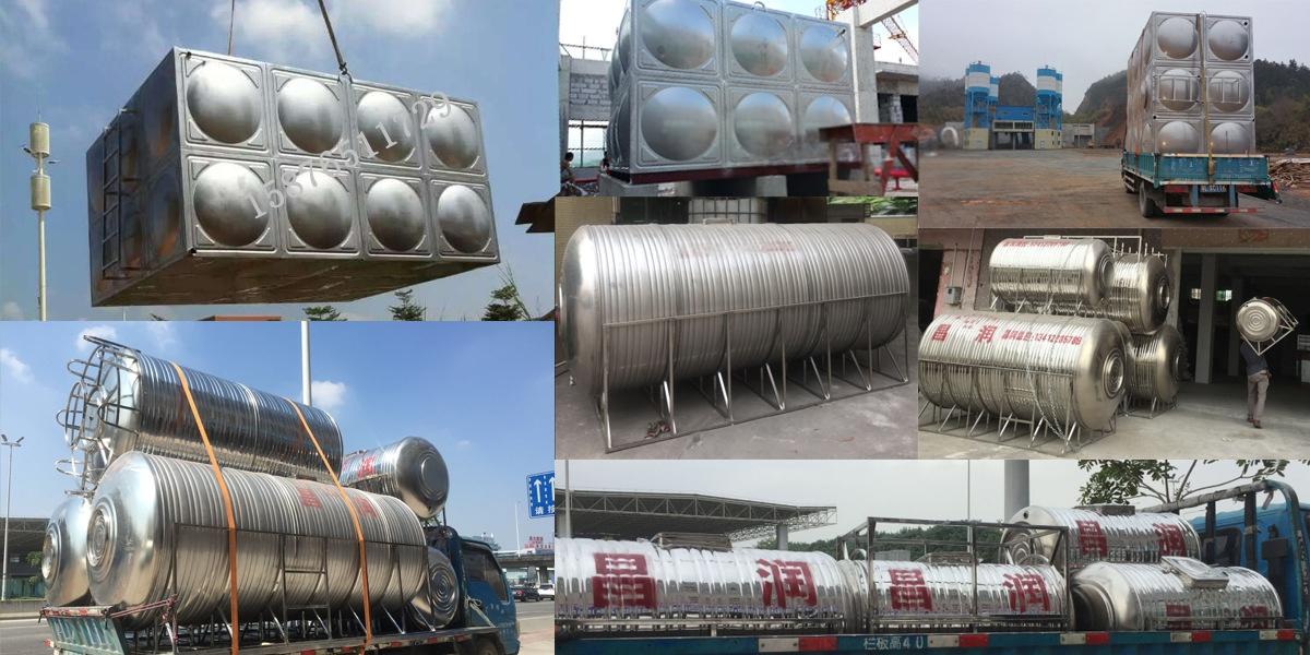 > 东莞10吨立式圆形不锈钢水塔 太阳能保温箱可定制