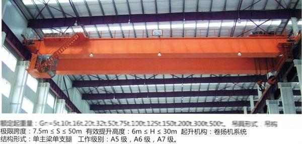 专业电动双梁桥式起重机qd型桥式起重机