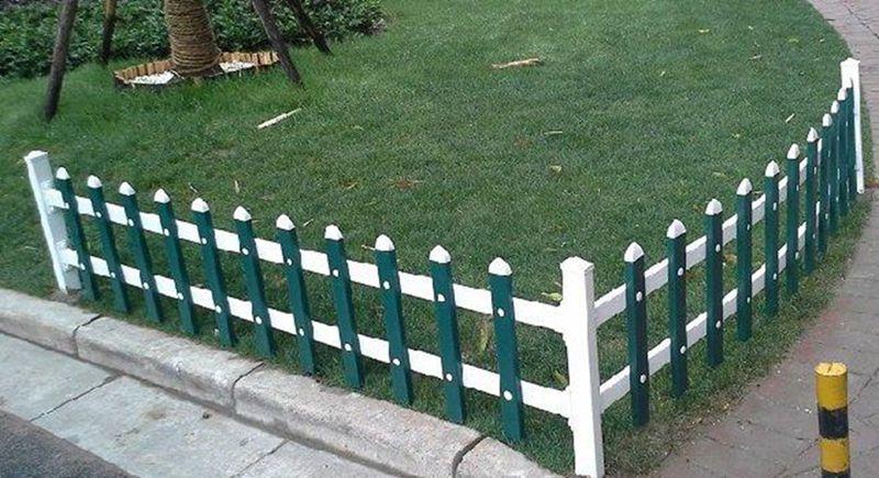湖北pvc绿化栅栏 花坛栅栏 美好乡村隔离栏图片