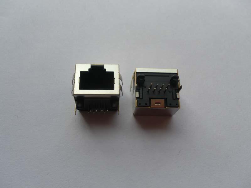 带铜壳带弹片不带灯插件 dip rg45网络 接口 9