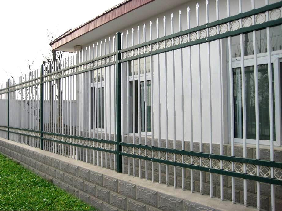 锌钢栅栏小区围墙护栏三横梁别墅栅栏精工定做