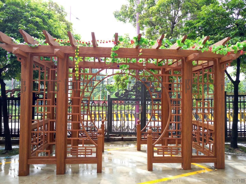 户外凉亭葡萄架铝合金花架作用长廊葡萄架仿古装饰装修的图纸在花格中v凉亭图片