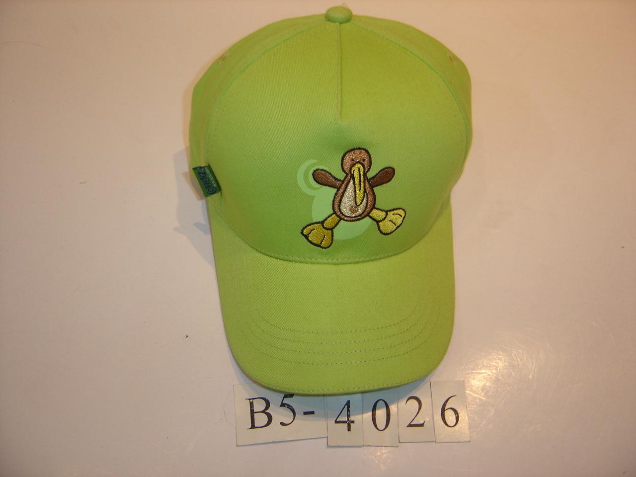 春秋时尚可爱儿童帽子男孩女孩卡通猫图案印花红色帽