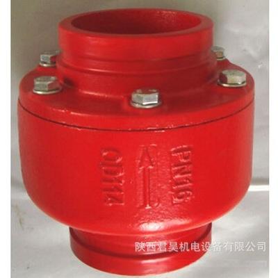 dn80沟槽止回阀 消防泵房卡箍连接单向阀图片