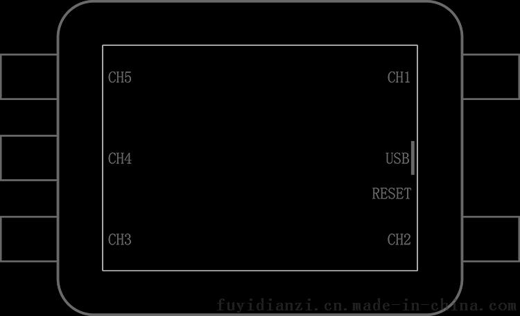 示波器示意�_wifi无线示波器fosc53b 5通路便携示波器