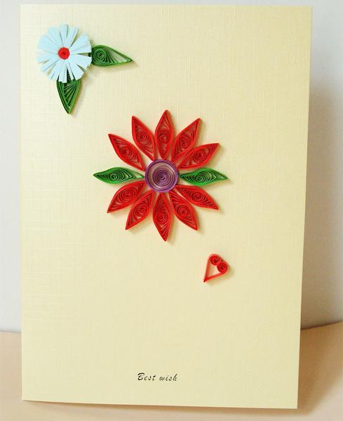 幼儿园手工大红花
