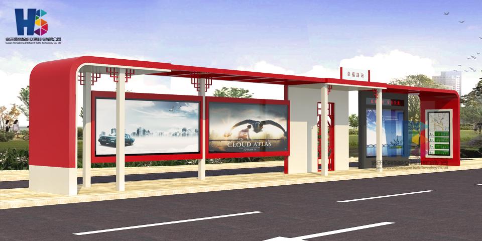 恒盛候车亭不锈钢候车亭v材料材料及方案说明【vt-2016建筑设计软件图片