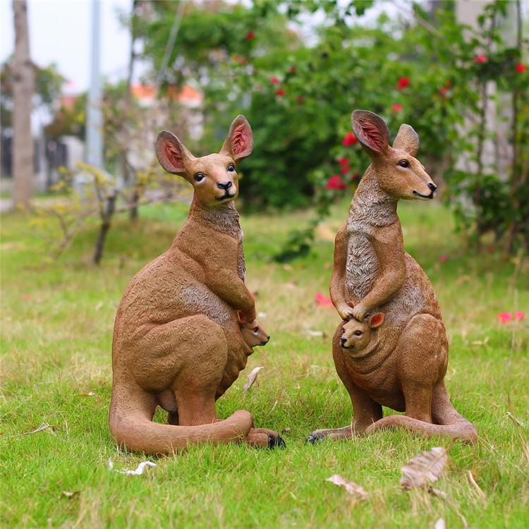 深圳欧泰斯艺术雕塑树脂工艺品动物雕塑厂家定制袋鼠