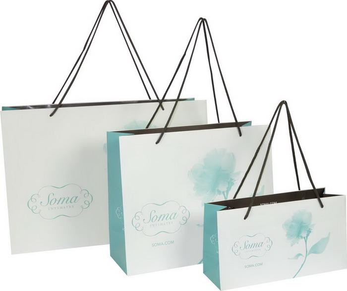 纸包装袋 > 手提袋定制 上海包装公司   soma兰花物语手提袋使用**折图片