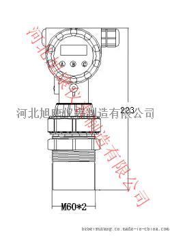 XK-GR铸铝型两线制超声波液位计-4