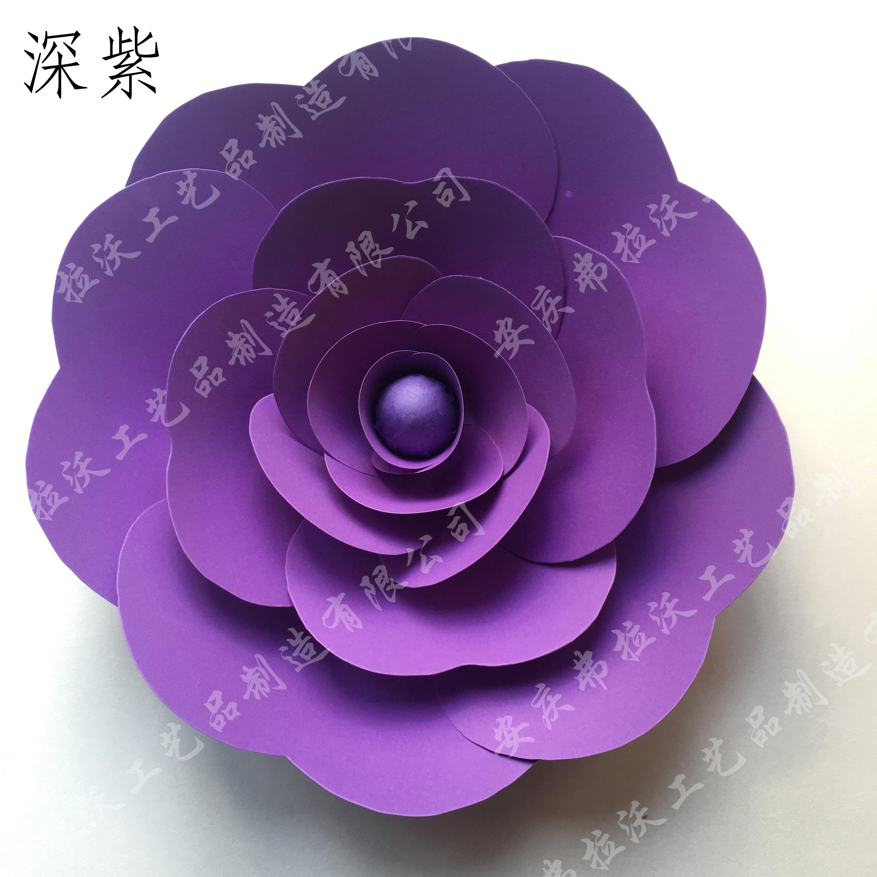 > 大型纸花商场橱窗纸花背景布置装饰纸玫瑰花图片