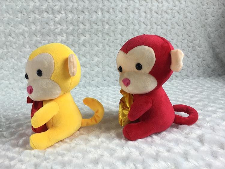 猴年吉祥物毛绒公仔 生肖猴玩偶 猴子公仔 礼品厂家定制加logo