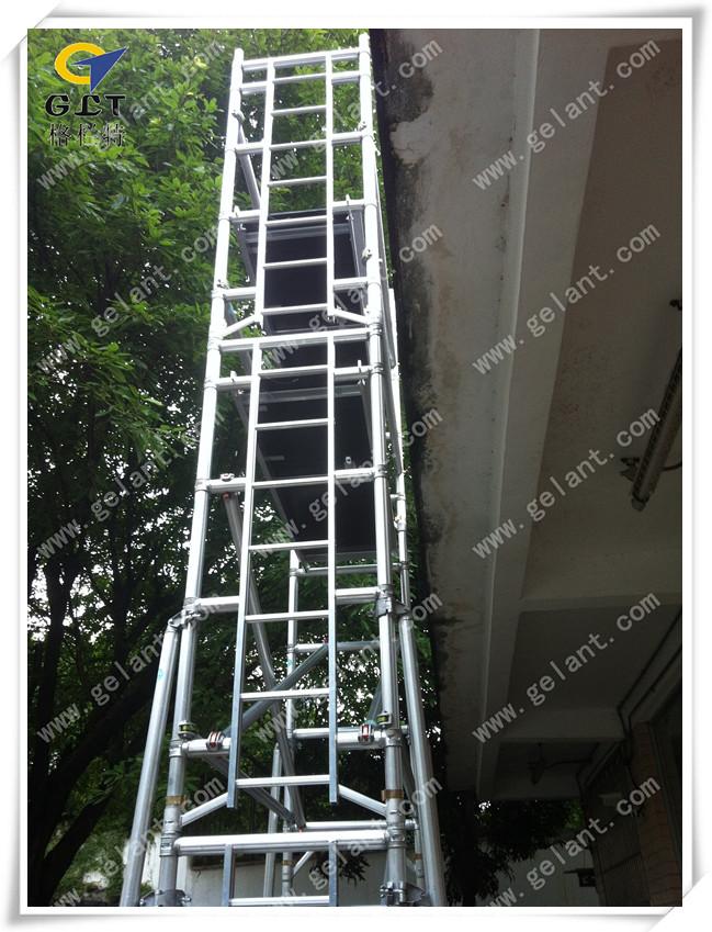 单宽度垂直爬梯式铝合金脚手架(sw)